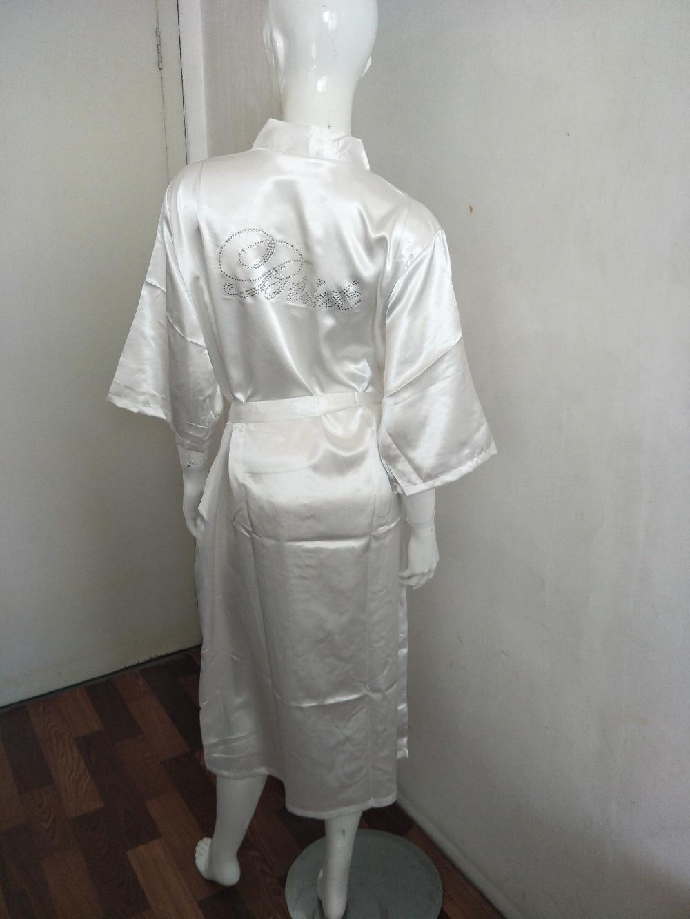 Blank Long Section Custom Logo Faux Silk Kimono Robe Women Wedding Bride Bridesmaid Robes Bachelorette Wedding Preparewea