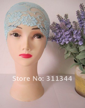inh005 hot sell beige lace islamic cap with assorted colors for free shipping accept paypal