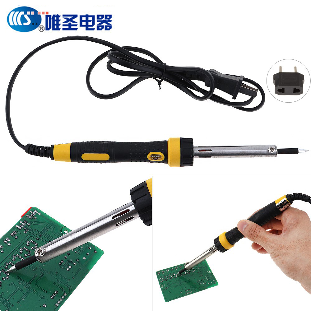 40 Вт 220 В длительный срок внешнего тепла типа Электрический паяльник ручка Сварка инструмент со светодиодной подсветкой Керамика core постоя...
