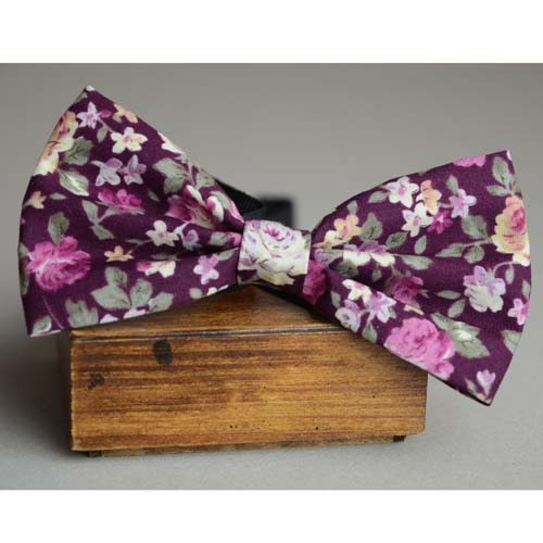 Purple Floral bow