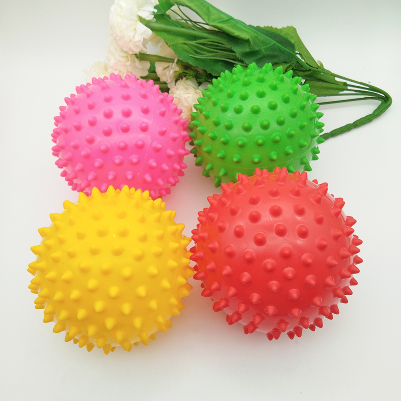 10CM Bouncing Ball Toys Inflatable Jumping Bounce Stress Massage Health Care Toy PVC Hedgehog Balls Toys For Girls / Boys