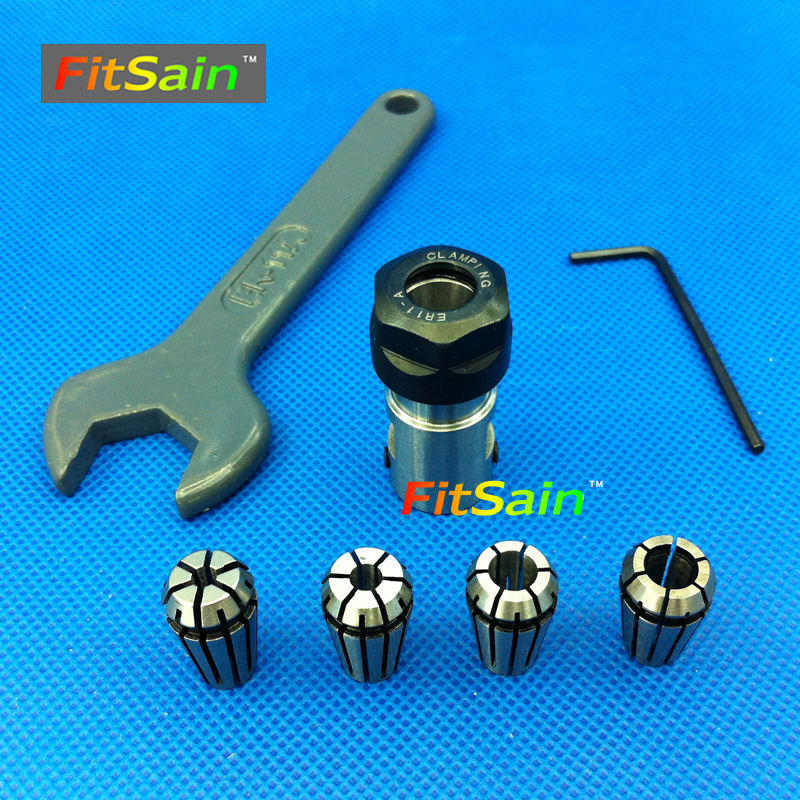 FitSain-ER11 Collet chuck CNC Spindle Collet set from 1/8~1/4 for CNC milling lather tool Used for motor shaft 5mm/6mm/8mm cnbtr er16a 6mm motor shaft collet chuck holder tool cnc lathe milling part