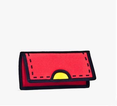 2D Standard Wallets! 3D Canvas Lady Hasp Wallet Vintage Hasp Long Wallet Nice High-Quality Comic Book Bag