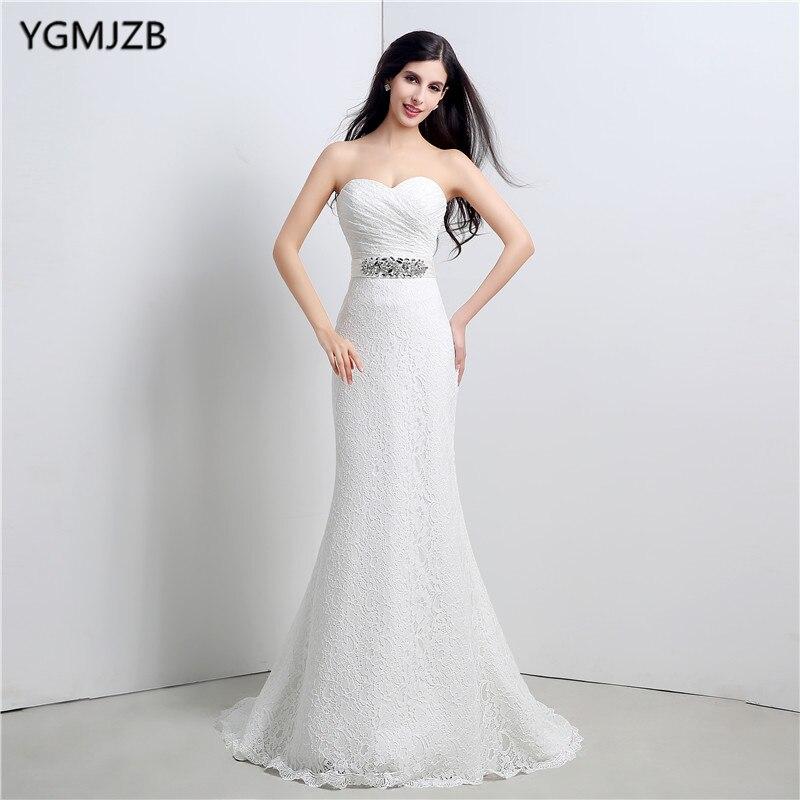 Mermaid Lace Wedding Gown: Plus Size Long Wedding Dresses 2018 Mermaid Sweetheart