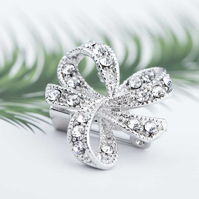 High Quality Fine Bijouterie Rhinestone Brooch Small Collar Wedding Bridal Pin Brooches Wholesale Hat Decoration
