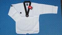 promotional MOOTO taekwondo Dobok WTF Dobok Taekwondo Uniform Belt with Special Fabric cotton red black v neck TKD uniforms