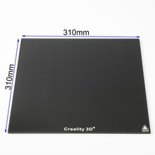 310*310mm/235*235mm New Creality 3D Ultrabase 3D Printer Platform Heated Bed Build Surface Glass plate for CR-10 CR-10S Ender3