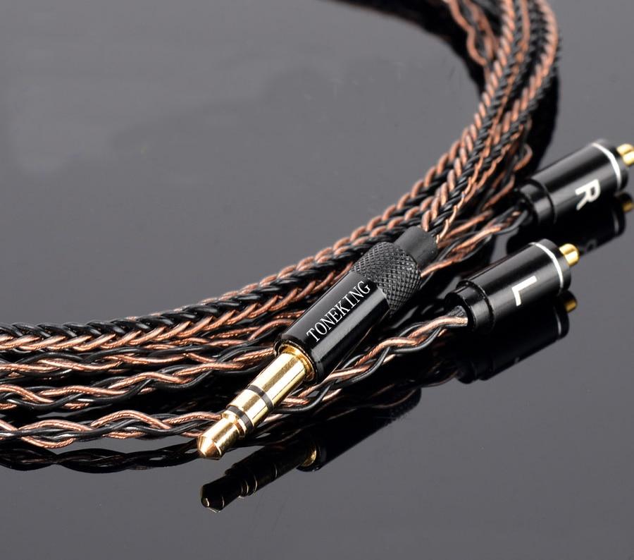 Haute qualité mis à jour 8 cœurs 6N cuivre argent mélangé MMCX ligne de casque 3.5mm 4.4 MM fiche câble cordon pour Shure SD6 DAP Sony NW-WM1Z