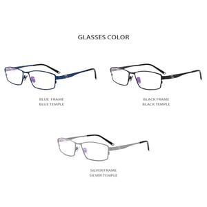 Image 5 - Pure Titanium Eyeglasses Frame Men Square Myopia Optical Eye Glasses for Men Vintage Retro Ultra Light Full Eyewear FONEX 1180