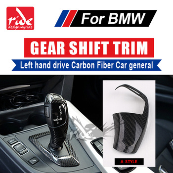 For BMW F01 F02 G11 G12 Car Interior 733i 735i 740i 745i 750i Left hand drive Carbon car genneral Gear Shift Knob Covers A-Style