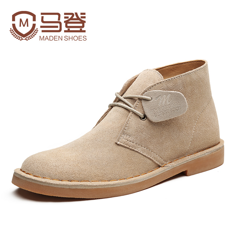 Maden Brand 2017 New Vintage Leisure Men Martin Boots Good Quality Original Desert Boots British Style High Top Tooling Boots