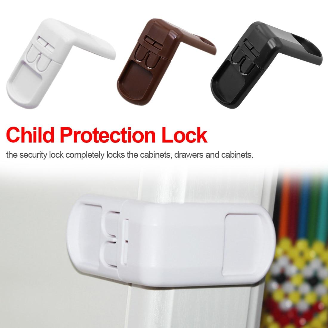 Child Lock Protection Of Children 4Pcs  Locking Doors For Children's Safety Kids Safety Plastic Lock For Child Infant Baby Locks