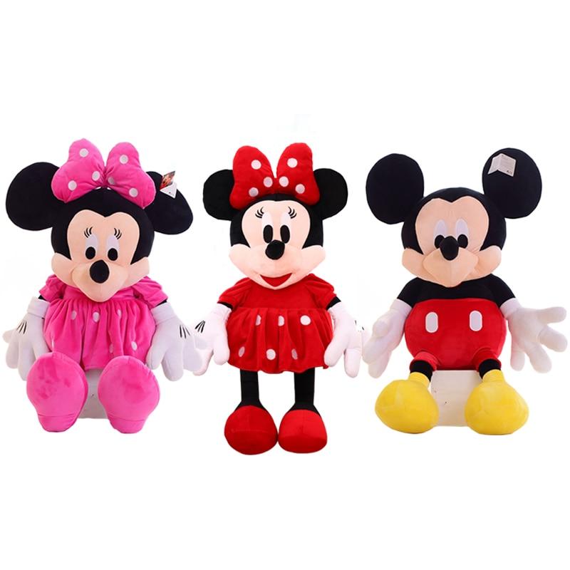 1pc 50cm classique Mickey et Minnie souris peluche peluche doux dessin animé Animal poupée pour enfants cadeau de noël cadeau