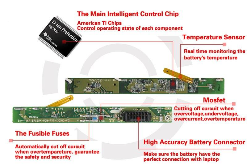 KingSener Japonais Cellulaire Nouveau VV0NF Batterie D'ordinateur Portable pour DELL Latitude E5440 E5540 Série VJXMC N5YH9 0K8HC 7W6K0 FT6D9 11.1 V 65WH - 5