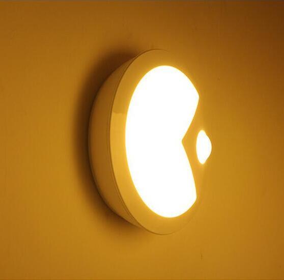 1 Piece Pac Man Sense Motion/Light Control LED Wall Lamp,Novel Bed