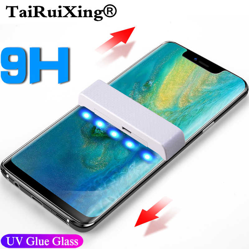 UV Tempered Glass 5D Full Liquid Glue Screen Protector For LG V30 V40 G7 OPPO Find X Glass