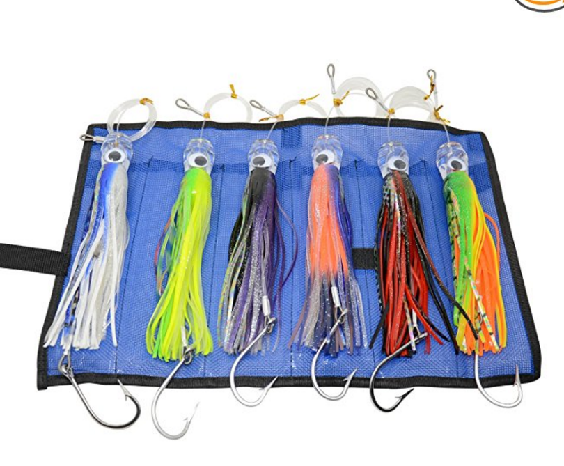 New 6 pcs 9 Inch Saltwater Fishing Lures Trolling Lures for Tuna Marlin Dolphin Mahi Wahoo and Durado, Included Rigged Big GamNew 6 pcs 9 Inch Saltwater Fishing Lures Trolling Lures for Tuna Marlin Dolphin Mahi Wahoo and Durado, Included Rigged Big Gam