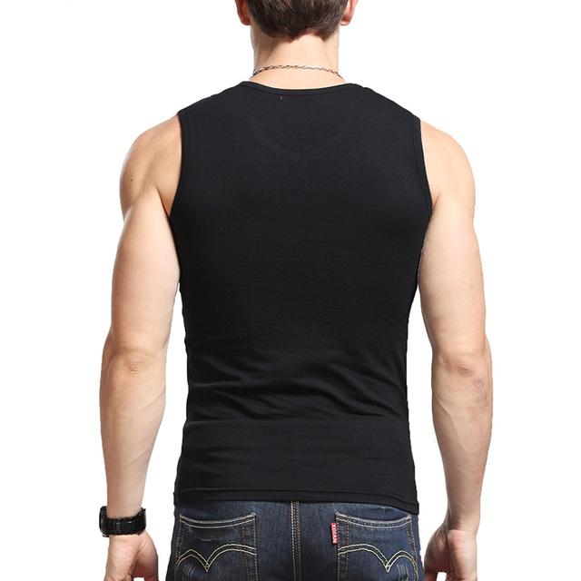 Men's Solid Color Cotton Undershirt