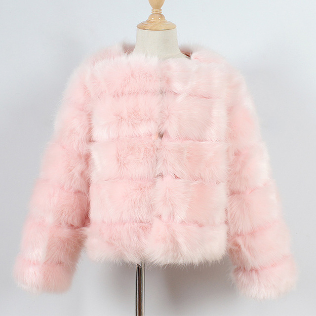 Pink Kids fur coat rex rabbit 5c64fecb8a047