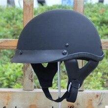 Envío gratis 2015 aprobado por el DOT hombres medio casco de la cara la personalidad vintage retro casco de moto moto moto casco capacete