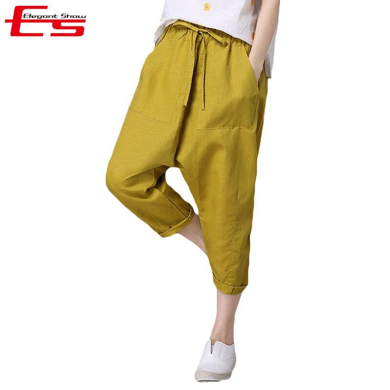 Yellow Capris Plus Size