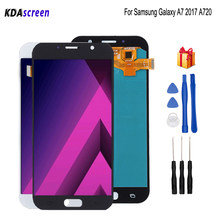 AMOLED Voor Samsung Galaxy A7 2017 A720 LCD Display A720F SM-A720F Screen LCD Touch Screen Digitizer Vervangende Onderdelen Gratis Tools(China)