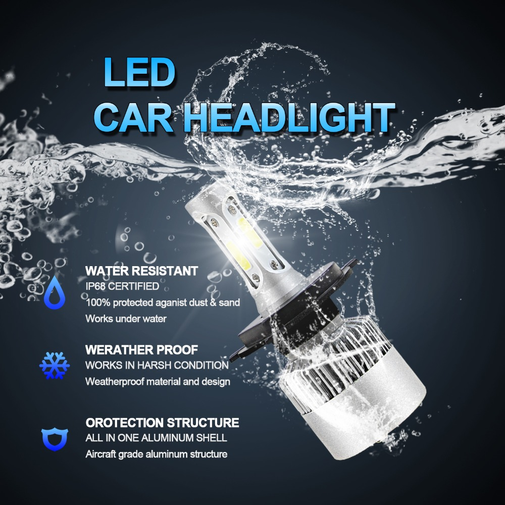 LVTUSI 2 ADET Süper Parlak H7 LED H4 H11 Araba Işıkları H1 H3 Oto - Araba Farları - Fotoğraf 3
