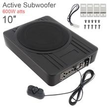 Universal Car speaker Subwoofer 10 Inch 600W Car Slim Under Seat Car Active Subwoofer Bass Amplifier Speaker Black Fuselage Slim все цены
