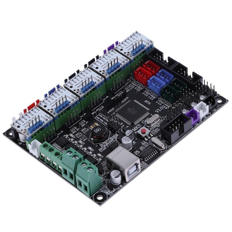 MKS Gen V1.0 Intergrated Motherboard Mainboard Control Board +5pc TMC2130 V1.1 Stepper Motor Drivers w Heatsink 3D Printer Part
