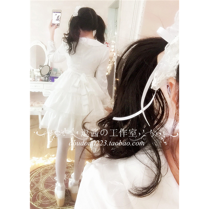 Robe lolita palace princesse col claudine fraise broderie robe victorienne kawaii fille robe gothique lolita op cos loli - 3