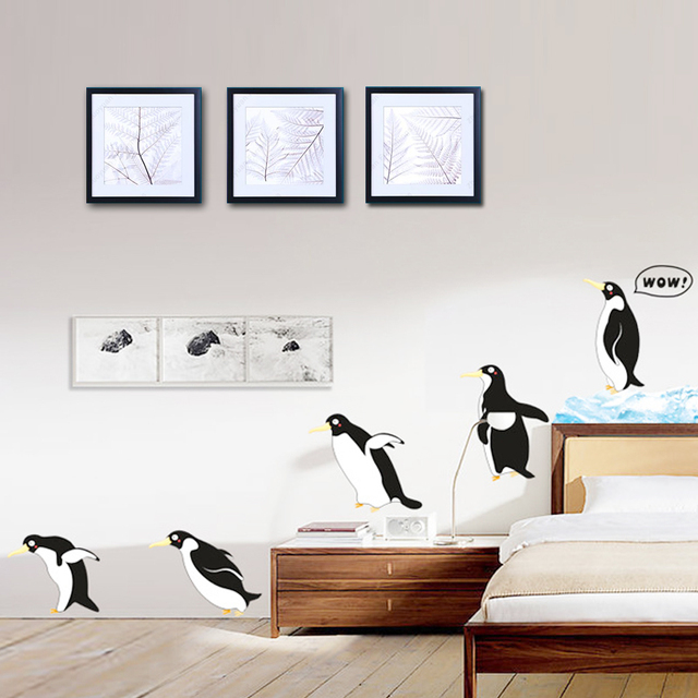 Unny cute penguin kitchen decor sticker diy fridge decals dining unny cute penguin kitchen decor sticker diy fridge decals dining room kitchen decorative wall stickers home sxxofo