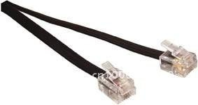 15M Black tel.cable ,6P4C plugs