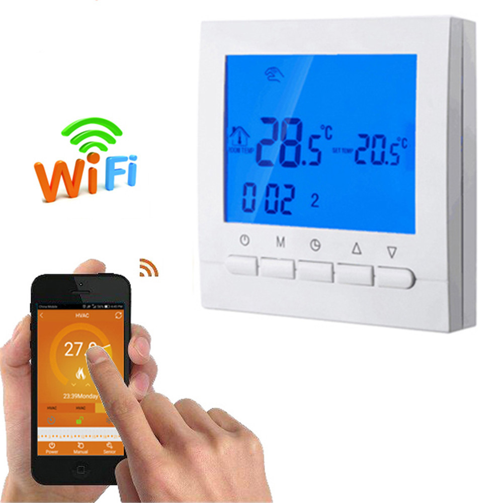 Wifi Smart Heating Thermostat Underfloor Electric Heating System 16A Infrared Heater Temperature Remote Controlled by Phone electric water heater thermostat temperature control switch heating tube electric heating tube heating rod for ariston