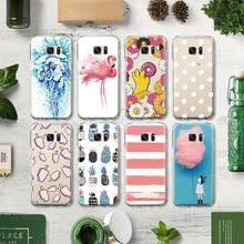 Фотография Flamingo Pink Rose Mandala Delicious Doughnut Pattern TPU Phone Case for Samsung S4 S5 Mini S6 S7 Edge Plus S8 Note 4 5 G530