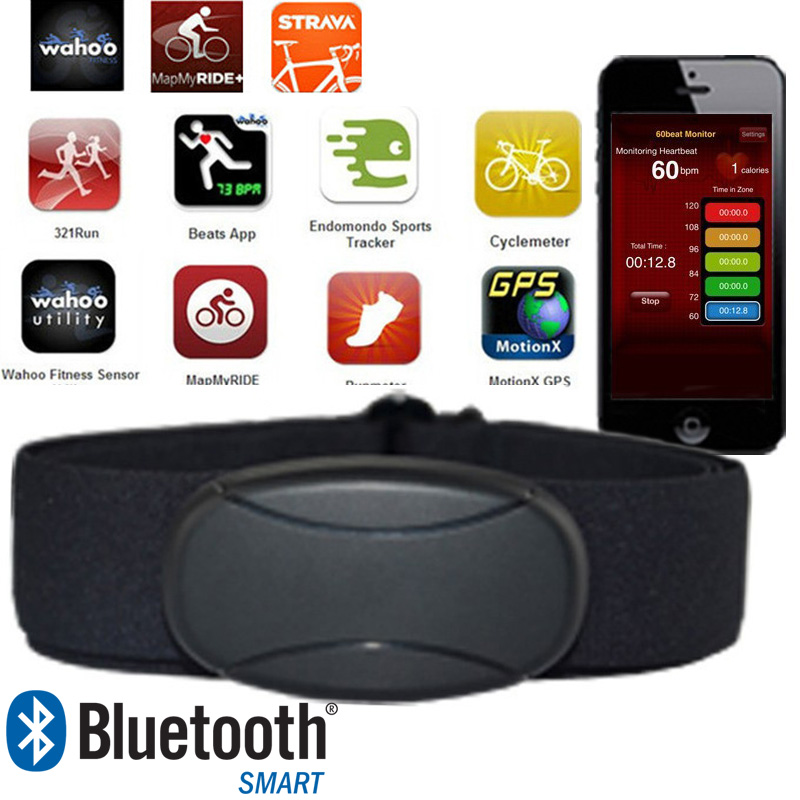 US $19 59 51% OFF PULSOMETRO PARA SMARTPHONE IPHONE ANDROID CALORIAS Heart  Rate Monitor Bluetooth Chest Strap Heart Rate Sensor iOS Runtastic-in