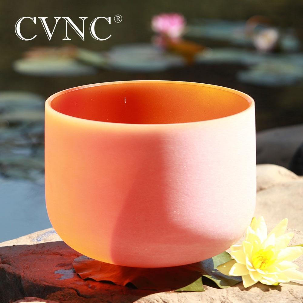 CVNC 8 Inch D Navel 440hz 432hz Orange Chakra Quartz Crystal Singing BowlCVNC 8 Inch D Navel 440hz 432hz Orange Chakra Quartz Crystal Singing Bowl