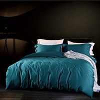 Customize Size Luxury Egypt Cotton Pure Bedding Set Silky Duvet Cover Set Bed Sheet Pillowcases