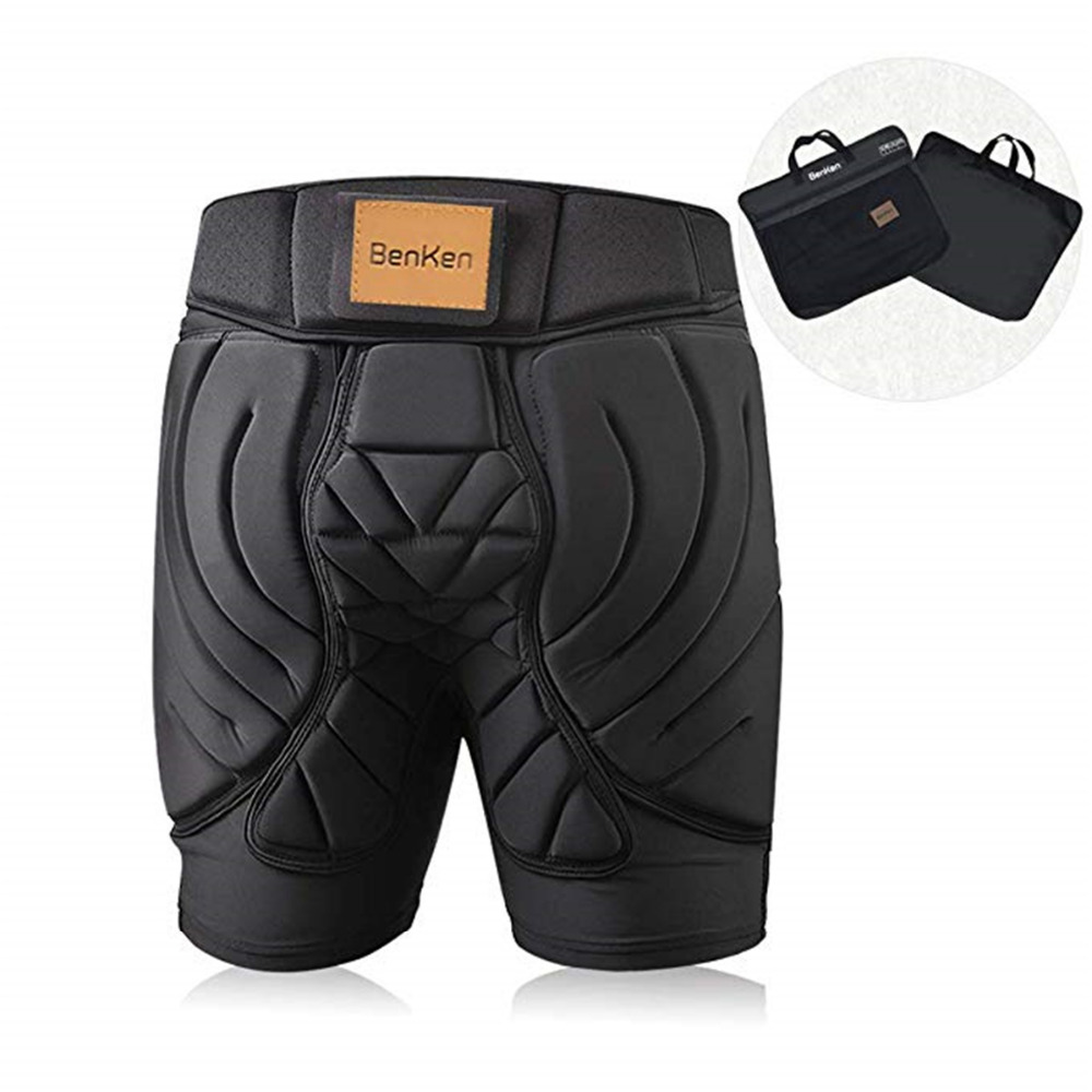 BenKen Ski Butt Pants Hip Protection Butt Guard for Skateboarding Skiing Riding Cycling Snowboarding Overland Racing Armor Pads 30