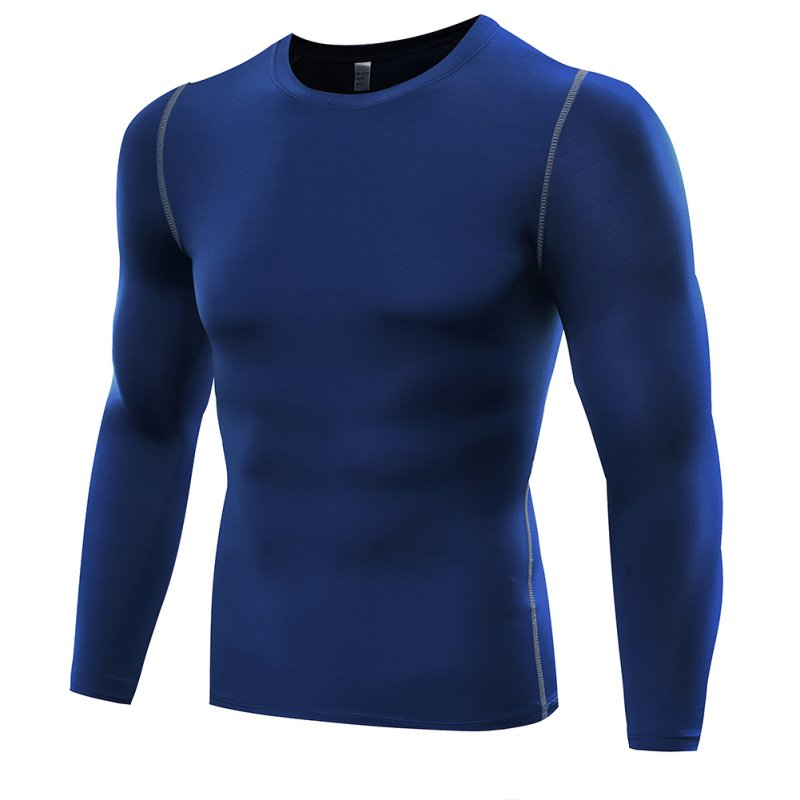 Muscle Men Compression Shirts T-shirt Long Sleeves Thermal Under Top Comfort Base Layer Weight Lifting