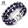 Kalen New Unisex Bike Chain Bracelet Cool Biker Bicycle Chain Men's Bracelet Fashion Male 316L Stainless Steel Hand Chain Gifts