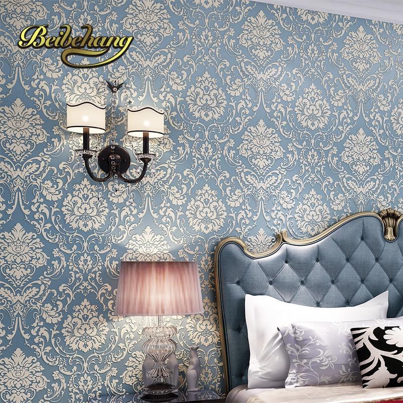 beibehang  papel de parede3d Stereoscopic 3D relief thickening European non-woven bedroom living room TV background wallpaper