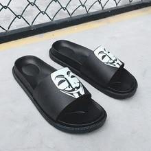 купить COOLVFATBO Summer Men's Slippers 2019 Fashion Outdoor Slides Indoor Non-slip Slippers Beach flip flops Personalized men slippers по цене 718.04 рублей