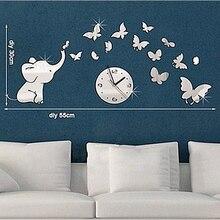Butter Mirror clock watch clocks Living Room Quartz Acrylic Geometric Needle