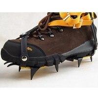 1 Para 10 Zęby Regulowane Antypoślizgowe Crampon Ice Gripper Uchwyty Crampon Korki Buty Boot Łańcuch Spike Śnieżne dla turystyka Wspinaczka