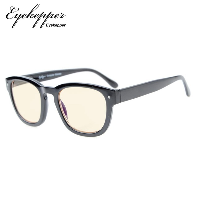 813788ab01d CG089 Eyekepper Amber Tinted Lenses Computer Readers Professor Vintage  Style Spring Hinges Arms Computer Reading Glasses
