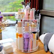 Купить с кэшбэком Acrylic Makeup Organizer Cosmetic and Can be rotated Jewelry storage box Lipstick rack Brushes Storage Drawer type Display Box