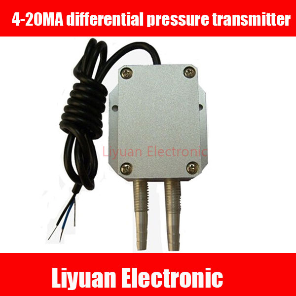 4 20MA differential pressure transmitter / Air pressure transmitter / Air pressure sensor / DC24V differential pressure sensor-in Sensors from Electronic Components & Supplies