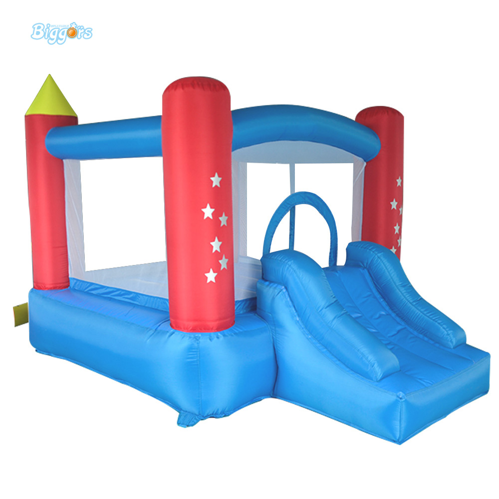 DHL Free Shipping Inflatable Bouncer Sea Color Bouncy Castle with Blower with Slide Piece for Sale for Kids free shipping by sea kid inflatable bouncer for sale with inflatable slide