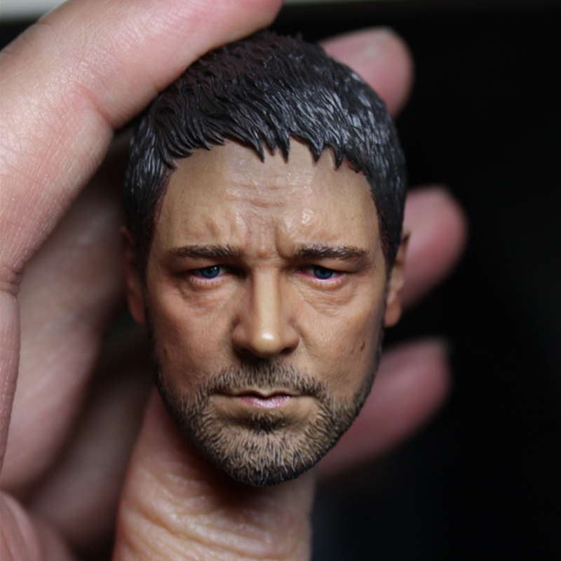 """1:6 Scale Russell Ira Crowe Headplay Head Carving Sculpt For 12/"""" Action Figure"""