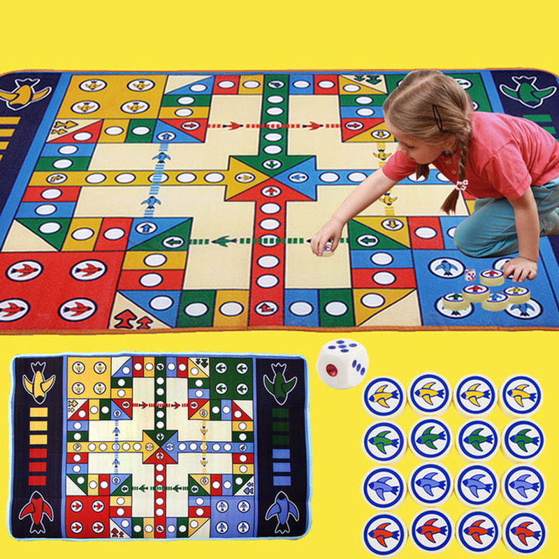 New Baby Game Mat Flying Chess Carpet Crawling Mat Game Pad Desktop Large Flying Chess Children Puzzle Hand Toy in Game Room from Toys Hobbies